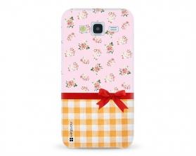 Kryt NORDTEN flowers mix kanafas Samsung Galaxy J5 silikonový