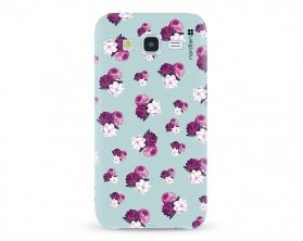 Kryt NORDTEN flowers mix purple green Samsung Galaxy J5 silikonový