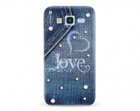 Kryt NORDTEN jean love Samsung Galaxy J5 silikonový