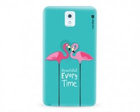 Kryt NORDTEN flamingo beautiful every time Samsung Galaxy Note 3 silikonový