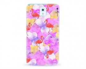 Kryt NORDTEN flamingo hearts Samsung Galaxy Note 3 silikonový