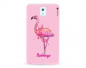 Kryt NORDTEN flamingo watercolor Samsung Galaxy Note 3 silikonový