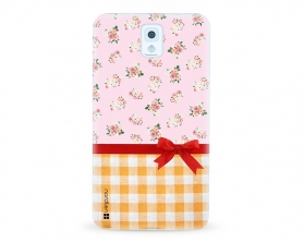 Kryt NORDTEN flowers mix kanafas Samsung Galaxy Note 3 silikonový