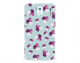 Kryt NORDTEN flowers mix purple green Samsung Galaxy Note 3 silikonový