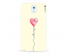 Kryt NORDTEN love you baloon Samsung Galaxy Note 3 silikonový