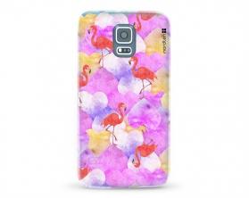 Kryt NORDTEN flamingo hearts Samsung Galaxy S5 silikonový