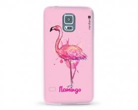 Kryt NORDTEN flamingo watercolor Samsung Galaxy S5 silikonový