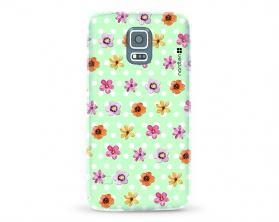 Kryt NORDTEN flowers mix green Samsung Galaxy S5 silikonový