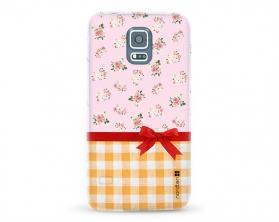 Kryt NORDTEN flowers mix kanafas Samsung Galaxy S5 silikonový