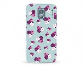 Kryt NORDTEN flowers mix purple green Samsung Galaxy S5 silikonový