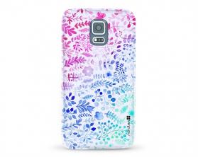 Kryt NORDTEN flowers mix watercolor Samsung Galaxy S5 silikonový