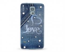 Kryt NORDTEN jean love Samsung Galaxy S5 silikonový