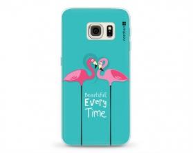Kryt NORDTEN flamingo beautiful every time Samsung Galaxy S6 Edge silikonový