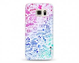 Kryt NORDTEN flowers mix watercolor Samsung Galaxy S6 Edge silikonový