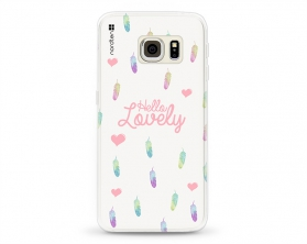 Kryt NORDTEN Hello lovely Samsung Galaxy S6 Edge silikonový