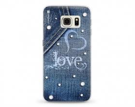 Kryt NORDTEN jean love Samsung Galaxy S6 Edge silikonový
