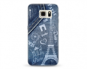 Kryt NORDTEN jean Paris Samsung Galaxy S6 Edge silikonový