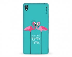 Kryt NORDTEN flamingo beautiful every time Sony Xperia Z3 silikonový