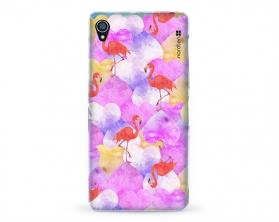 Kryt NORDTEN flamingo hearts Sony Xperia Z3 silikonový