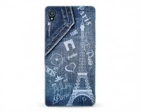 Kryt NORDTEN jean Paris Sony Xperia Z3 silikonový