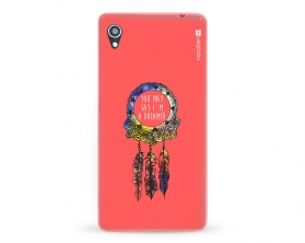 Kryt NORDTEN Dreamcatcher pink Sony Xperia M4 Aqua silikonový