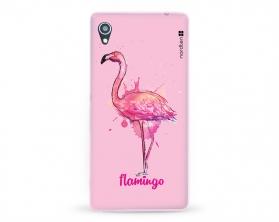 Kryt NORDTEN flamingo watercolor Sony Xperia M4 Aqua silikonový