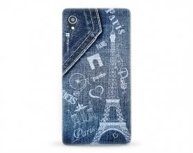 Kryt NORDTEN jean Paris Sony Xperia M4 Aqua silikonový