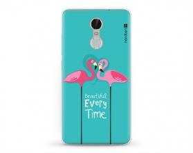 Kryt NORDTEN flamingo hearts XIAOMI Redmi Note 3 silikonový